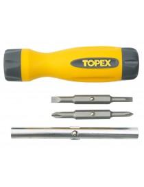TOPEX 39D516 GIRAVITE REVERSIBILE 4 IN 1
