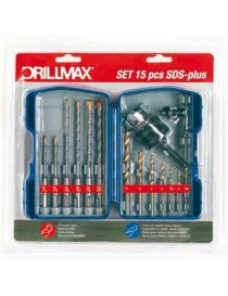 SET 15 PUNTE+MANDRINO SDS-PLUS DRILLMAX CF/BL.
