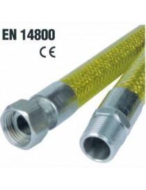 TUBO GAS FLEX INOX FF 100 CM EN14800