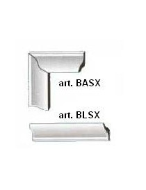 BORDO ANGOLARE BASX X GRIGLIE PL.BIA. PZ.4