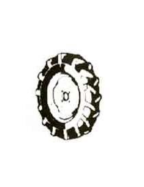 COPPIA RUOTE PER MOTOCOLTIV.GRILLO 9.001.12