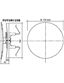 GRIGLIA PLASTICA BIANCA FUTUR125B DIAMETRO ESTERNO 170 CON RETE