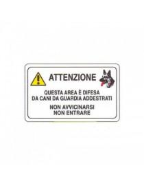 CARTELLO PVC 30X20 ATTENTI CANI DA GUARDIA