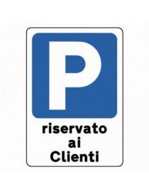 CARTELLO PVC 30X20 RISERVATO AI CLIENTI