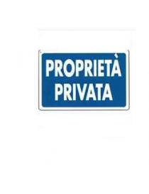 CARTELLO PVC 30X20 PROPRIETA' PRIVATA