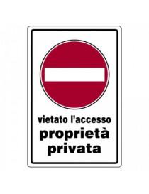 CARTELLO ALL 30X20 VIETATO ACCESS STRADA PRIVATA