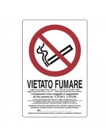 CARTELLO 30X20 VIETATO FUMARE