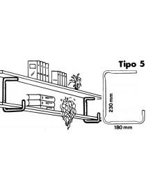 *MENSOLE FIX-LINE TIPO 5 CF/PZ.2